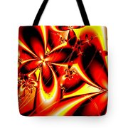 Flaming Red Flowers Tote Bag