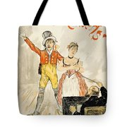 France Paris Poster Of Stage Performance At Cafe Chantant Tote Bag