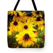 Golden Jerusalem Floral Tote Bag