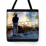 Herder Going Home In Mexico Tote Bag