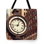 Historic Clock Of The Fifth Avenue Tote Bag