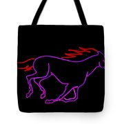 Horse Running Tote Bag