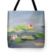 Impressionistic Lilies Monet Tote Bag