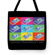 Iphone Therefore I Am Tote Bag