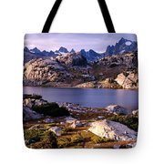 Island Lake And Wind River Range Tote Bag