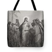 Jesus And His Disciples In The Corn Field Tote Bag