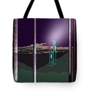 076 - Landscape With Columns And Two Monoliths  Tote Bag