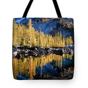 Larch Tree Reflection  Tote Bag
