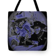 Leif Erickson And Cameron Mitchell  The High Chaparral Old Tucson Arizona 1969 Tote Bag