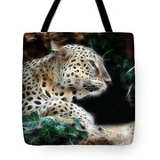 Leopard Watching It's Prey Tote Bag