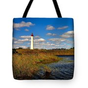 Lighthouse At The Water Tote Bag