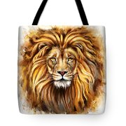 Lion Head In Front Tote Bag