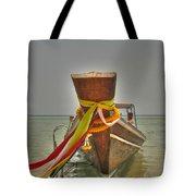 Long Tail Boat Tote Bag