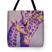 Loving Purple Giraffes Tote Bag