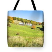 Maine Farm On Side Of Hill In Autumn Tote Bag