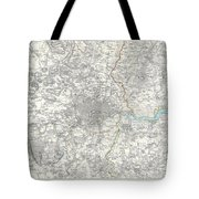 Map Of London And Environs Tote Bag