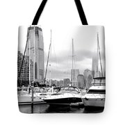 Marina In Black And White Tote Bag