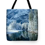 Merced River Reflection 2 Tote Bag
