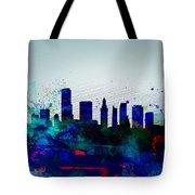 Miami Watercolor Skyline Tote Bag