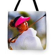 Michelle Wie Hits A Tee Shot Tote Bag