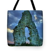 Midley Church Ruins At Dusk Tote Bag