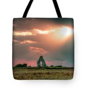 Midley Church Ruins At Sunset Tote Bag