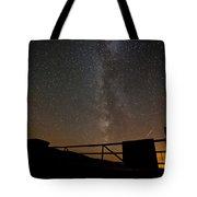 Milky Way Behind The Gate Tote Bag