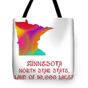 Minnesota State Map Collection 2 Tote Bag
