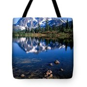 Mt. Shuksan Reflected In Picture Lake Tote Bag