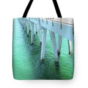 Navarre Beach Fishing Pier Tote Bag