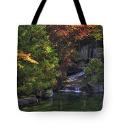 Nishinomiya Japanese Garden - Waterfall Tote Bag