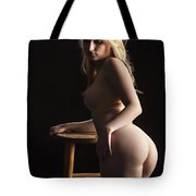 Nude Relaxing At The Bar 1095.02 Tote Bag