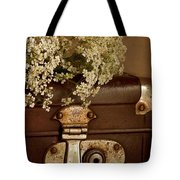 Old Suitcase Tote Bag