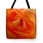 Orange Swirls Rose Flower Tote Bag