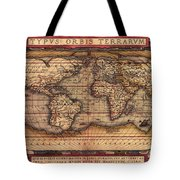 Ortelius World Map -typvs Orbis Terrarvm - 1570 Tote Bag