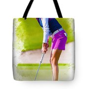Paula Creamer Putts The Ball On The Fourth Green Tote Bag