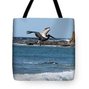 Pelican With Wet Feet Tote Bag