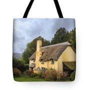 Picturesque Thatched Roof Cottage In Selworthy Tote Bag
