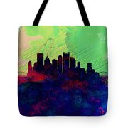 Pittsburgh Watercolor Skyline Tote Bag