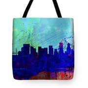 Portland Watercolor Skyline Tote Bag