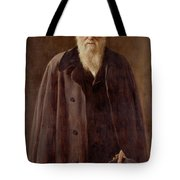 Portrait Of Charles Darwin Tote Bag by John Collier
