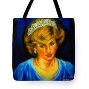 Portrait Of Lady Diana Tote Bag