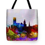 Providence Watercolor Skyline Tote Bag