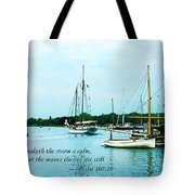 Psalm 107-29 He Maketh The Storm A Calm Tote Bag by Susan Savad