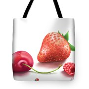 Red Fruits Tote Bag