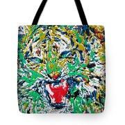 Roaring Enamel Tiger Tote Bag