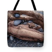 Rocks  In Driftwood Tote Bag