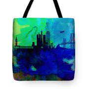 San Francisco Watercolor Skyline 2 Tote Bag