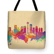 Skyline Of Seattle  Usa Tote Bag