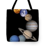 Solar System Montage Tote Bag by Anonymous